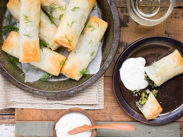 Spinach and Feta Spring Rolls